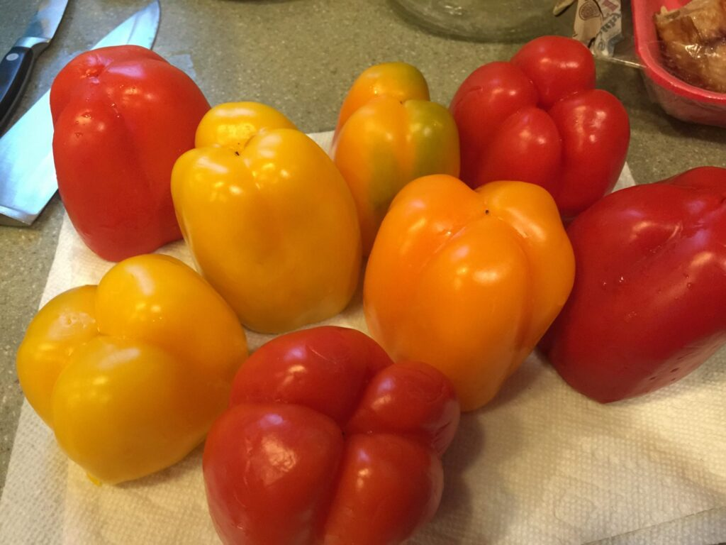 Red, Yellow and Orange Bell Peppers