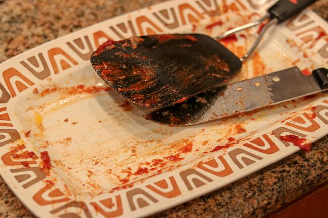 Empty Meatloaf Platter
